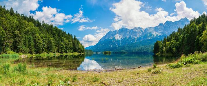 3D фотообои «Красивый горный пейзаж» вид 1