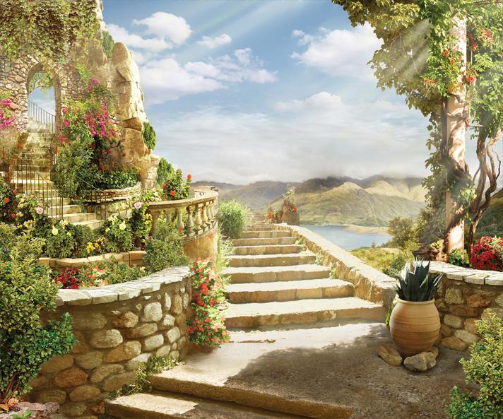 """3D Фотообои  """"Лестница во Флоренции"""""""