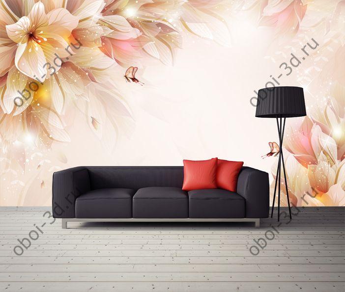 Волшеные цветы с бабочками