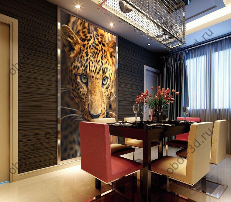 Леопард портрет