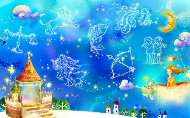 """Детские 3D Фотообои  """"Вдоль далеких созвездий"""""""