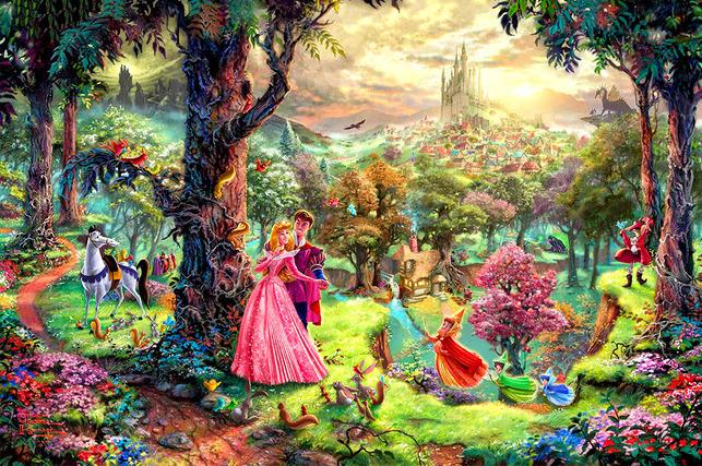 """3D Фотообои  """"Мечты принцессы"""""""