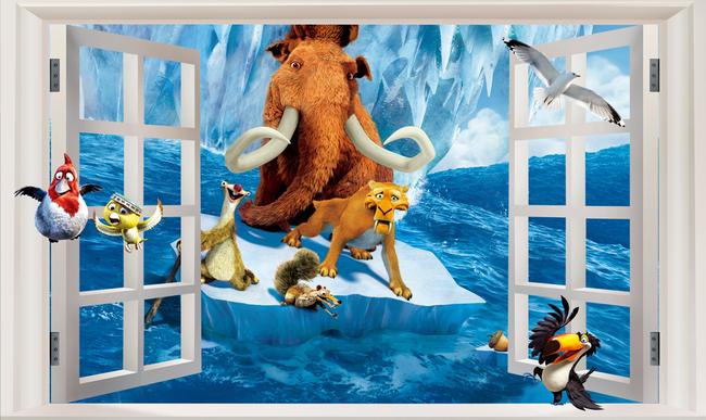 """Детские 3D Фотообои """"Ледниковый период"""""""