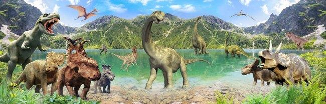 Детские 3D Фотообои Динозавры<br>kit: None; gender: None;