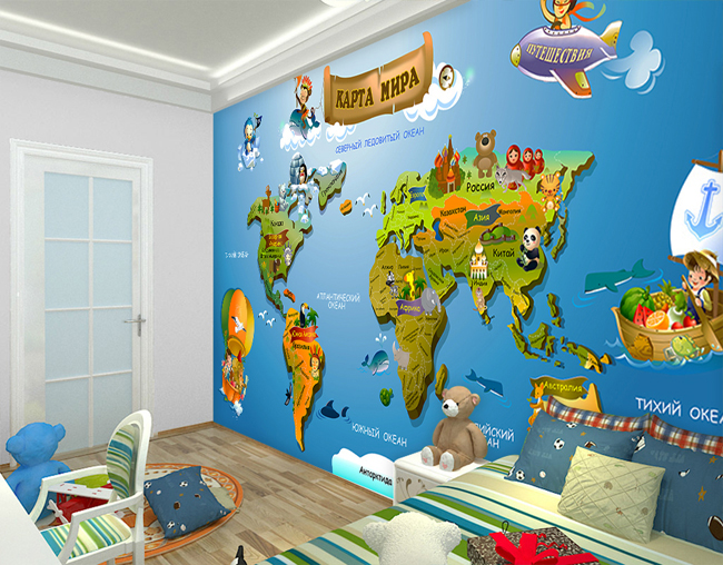 Карта континентов для детей