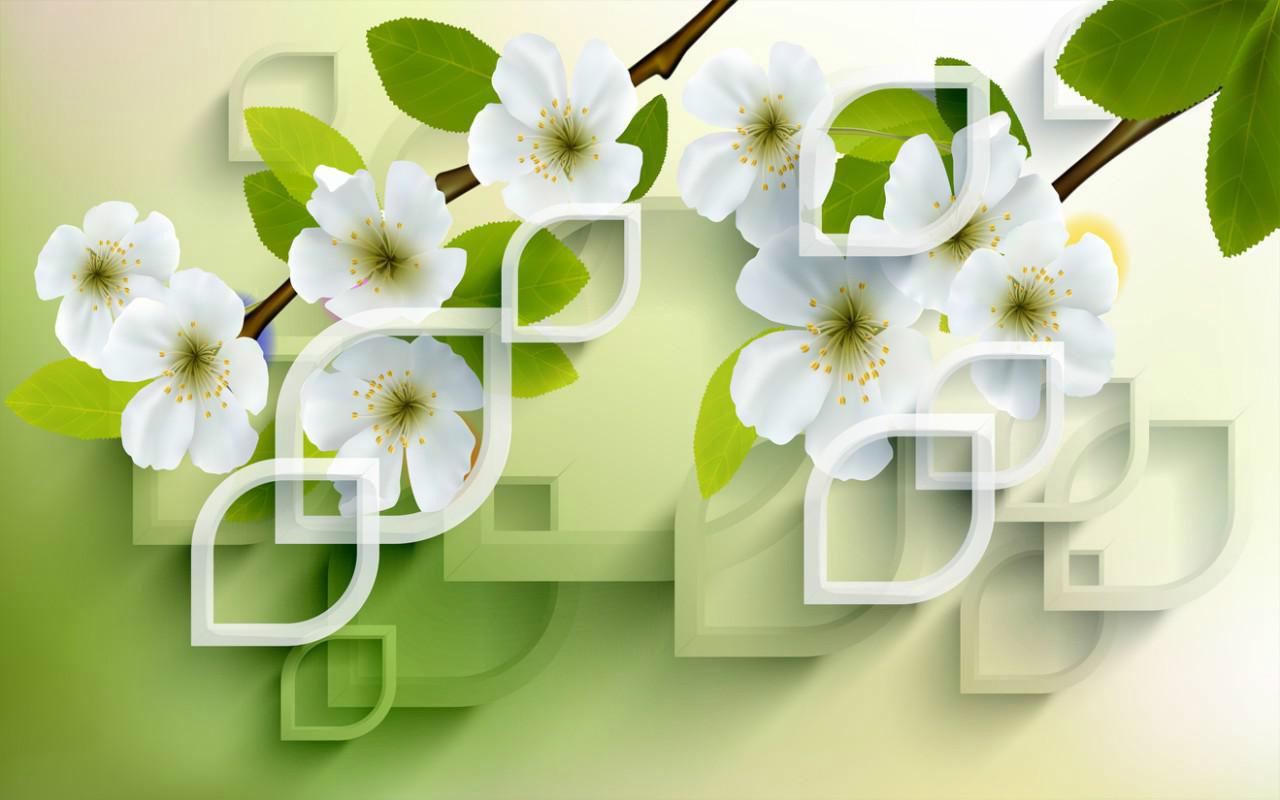 3D фотообои «Цветущая сакура» вид 1