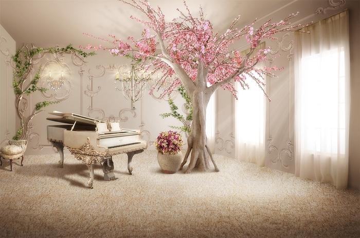 3D фотообои «Комната вдохновения» вид 1