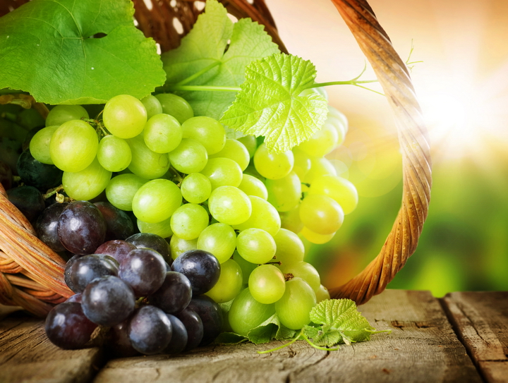 """3D Фотообои  """"Грозди винограда"""""""