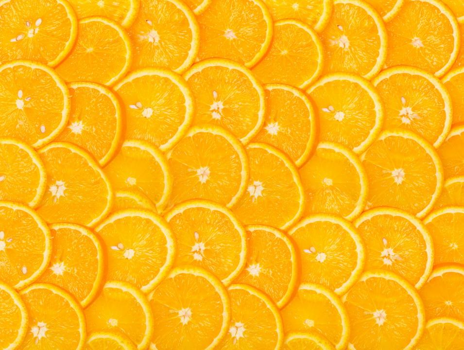 """Фотообои """"3D Фотообои  """"Дольки апельсина"""" """""""