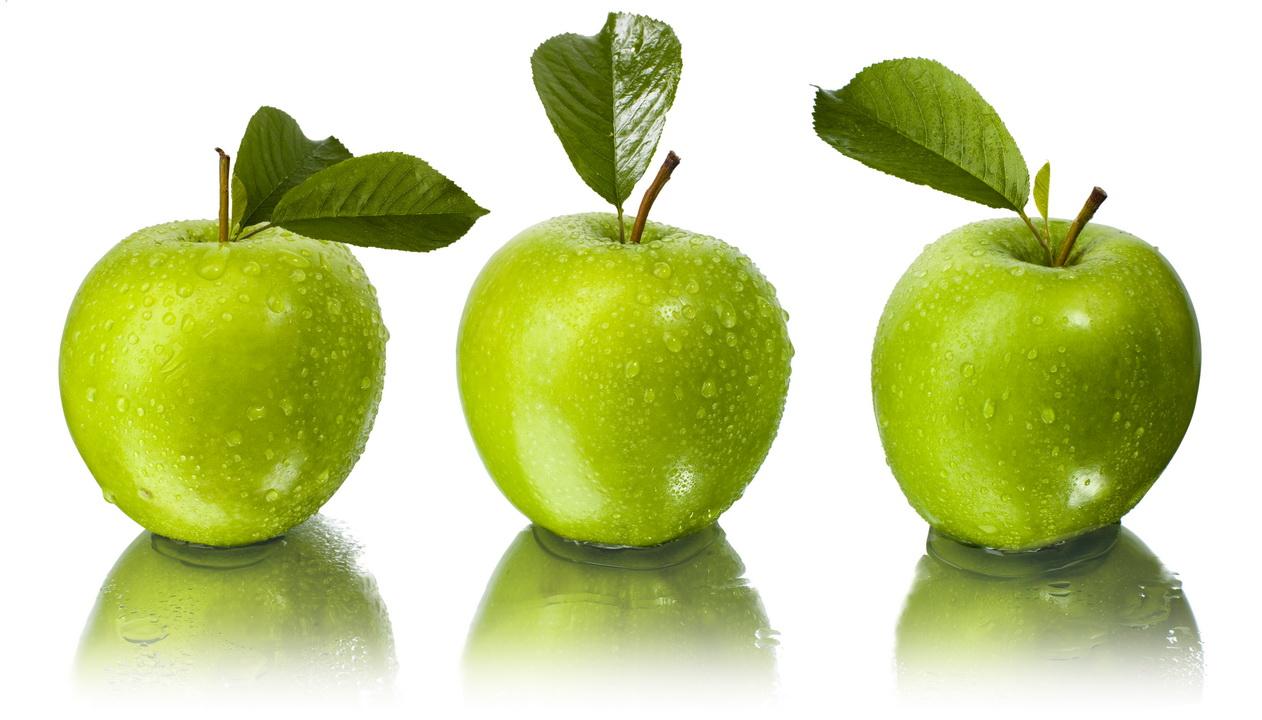"""3D Фотообои  """"Зеленые яблоки"""""""