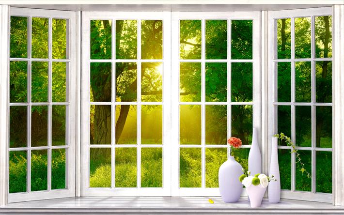 картинки с окном для фотообоев