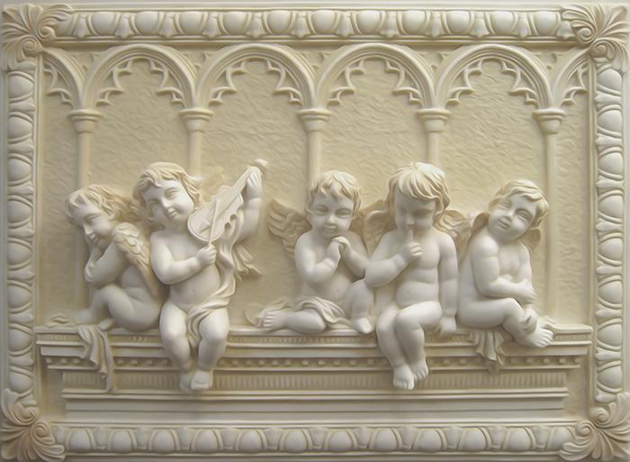 3D фотообои «Ангелочки» вид 1