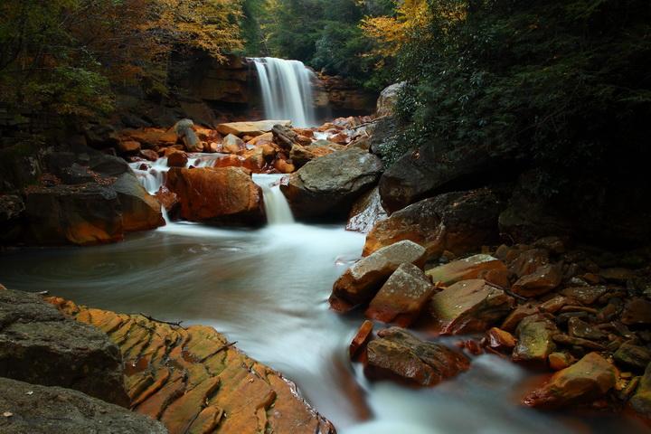 "3D Фотообои  ""Водопад с камнями"""