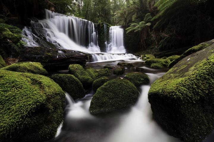 """3D Фотообои  """"Водопад в тропическом лесу"""""""