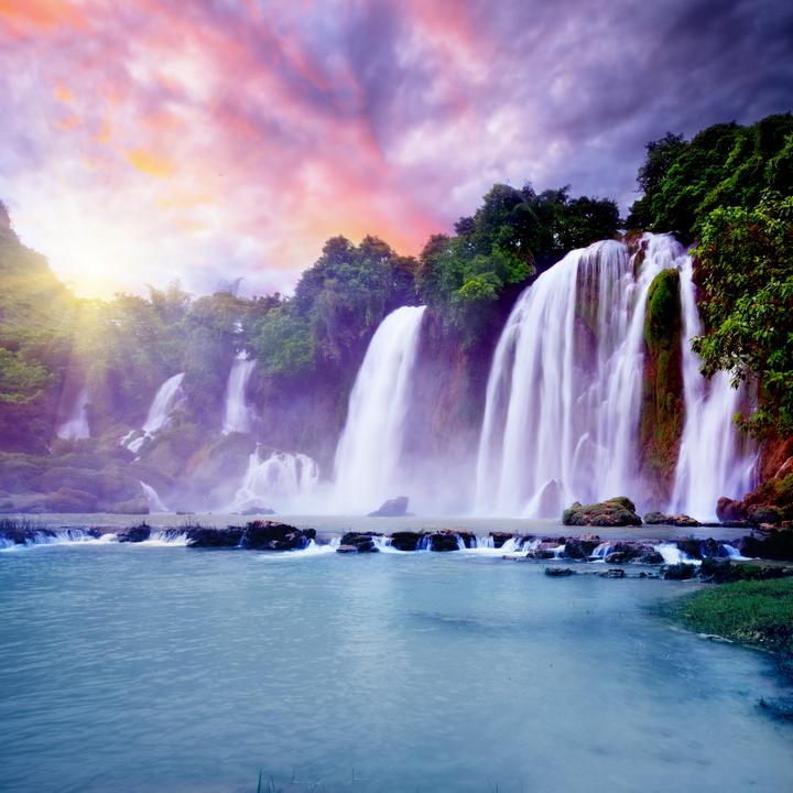 """3D Фотообои  """"Лазурный водопад"""""""