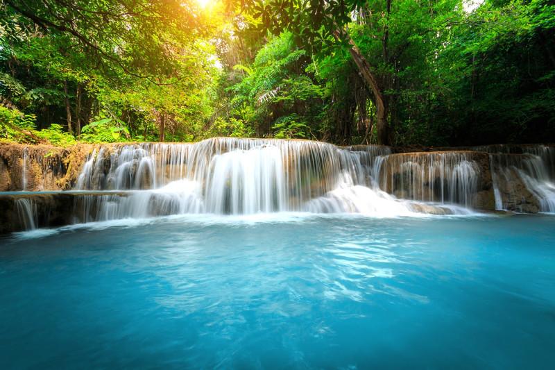 """Фотообои """"3D Фотообои  """"Водопад с голубой водой"""" """""""