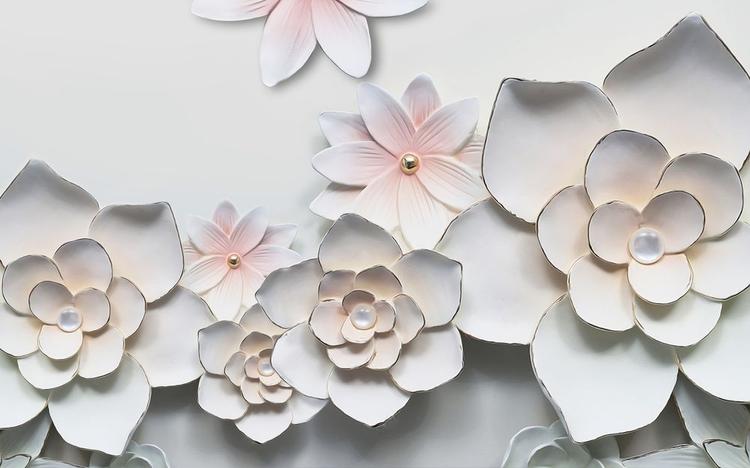 3D фотообои 3D Фотообои «Керамические цветы» вид 1