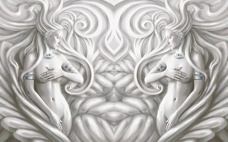 3D Фотообои  Женщины барельеф<br>kit: None; gender: None;