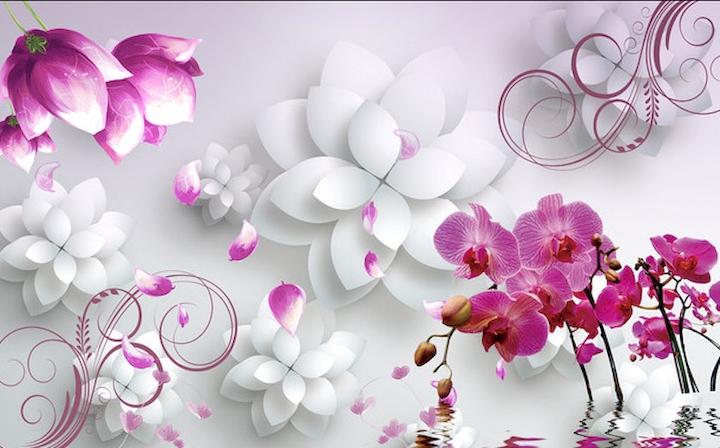 Три д цветы фото