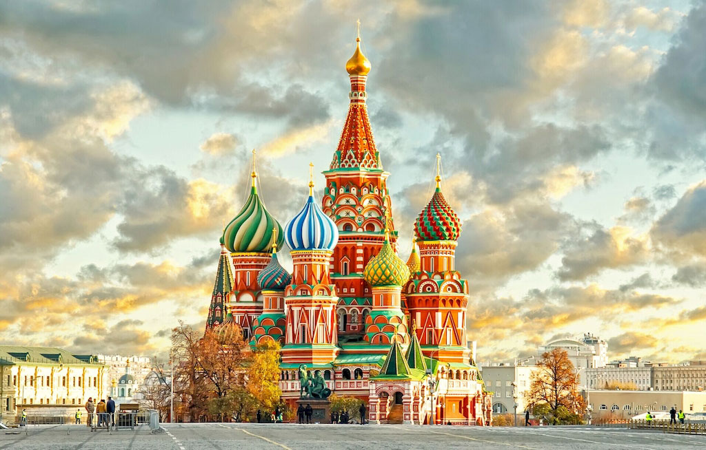 """3D Фотообои  """"Кремль Москва"""""""