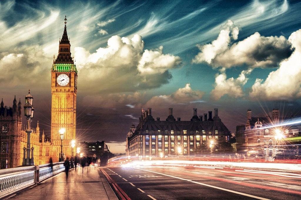 """3D Фотообои  """"Ночной Лондон"""""""