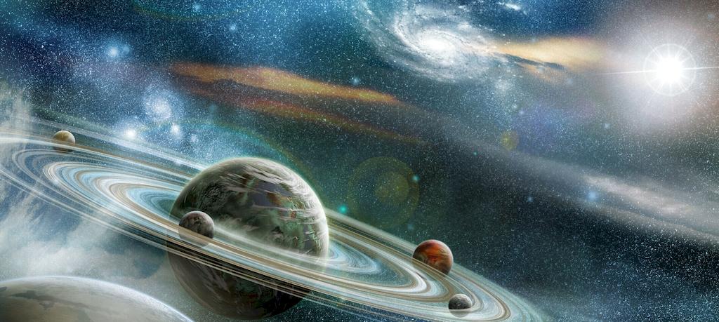 3D Фотообои  Космический пейзаж<br>kit: None; gender: None;