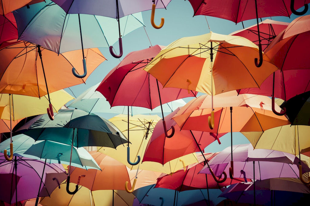 "3D Фотообои  ""Зонтики"""