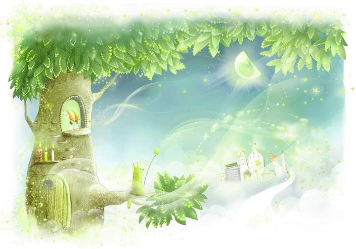 """3D Фотообои  """"Сказочное дерево"""""""