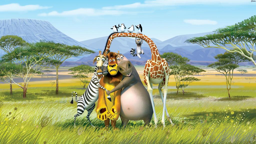 """3D Фотообои  """"Мадагаскар"""""""
