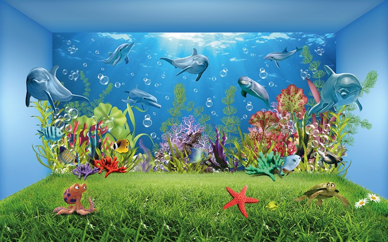Детские  «Газон под водой» вид 1