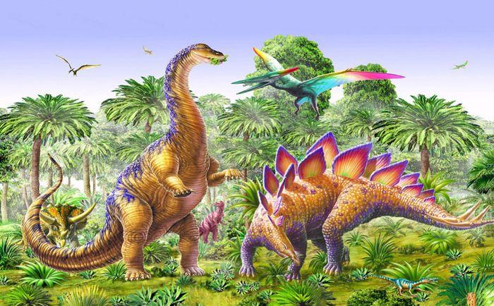 Детские 3D Фотообои «Травоядные динозавры»<br>kit: None; gender: None;