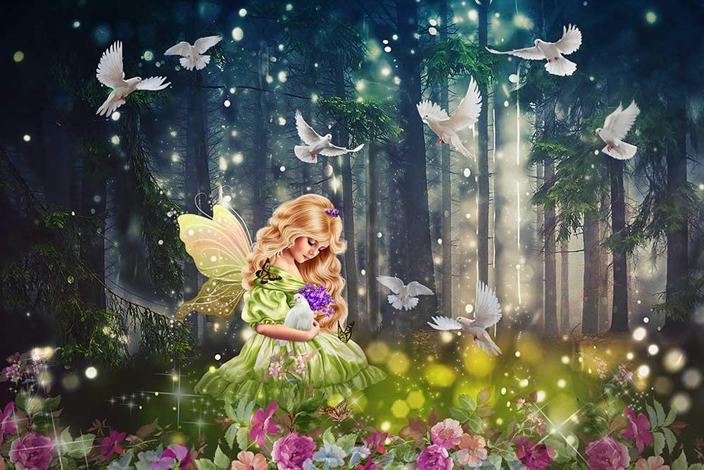 Волшебница на открытке