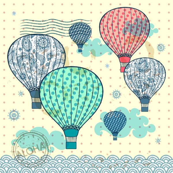 """3D Фотообои  """"Красочные воздушные шары"""" Детские"""