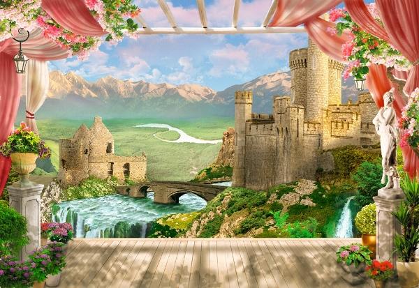 3D Фотообои «Средневековый замок»