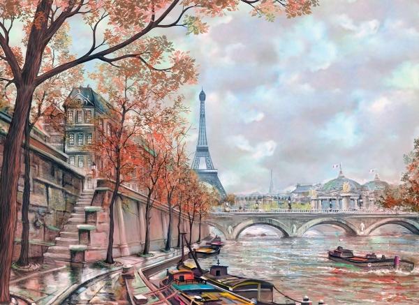 """Фотообои """"3D Фотообои «Где-то в Париже»"""""""