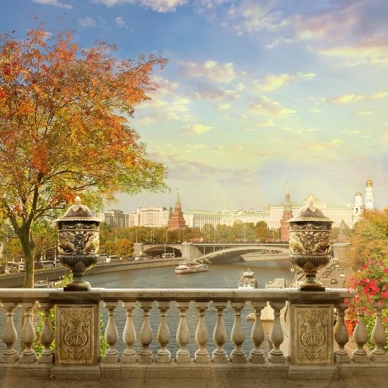3D Фотообои «Осень в Москве»