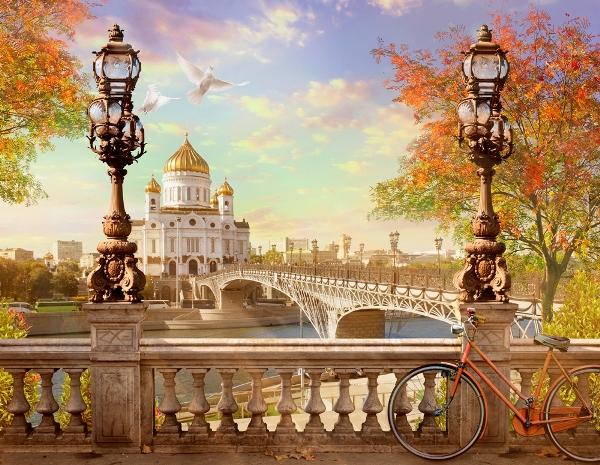 3D Фотообои «Храм Христа Спасителя»