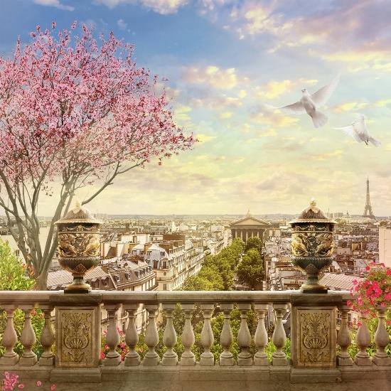 3D Фотообои «Весна в Париже»