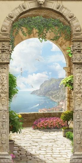 3D Фотообои «Двойная арка»