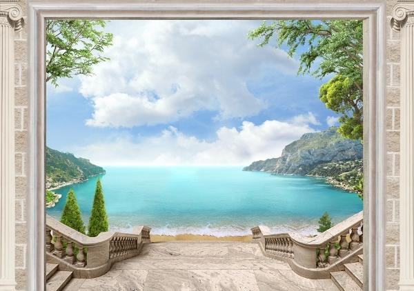 3D фотообои 3D Фотообои «Лестница ведущая к океану» вид 1