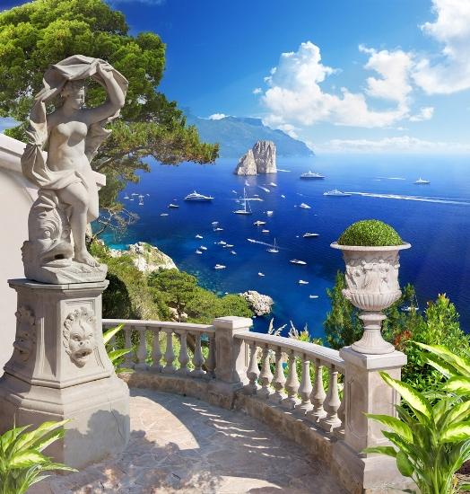 """Фотообои """"3D Фотообои «Бесконечно синее море»"""""""