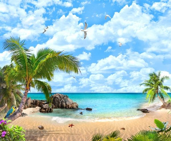 3D Фотообои «Лазурный пляж»