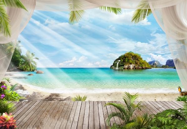 3D Фотообои «На берегу океана»