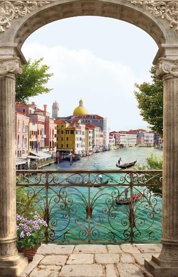 3D Фотообои «Вид на Венецианский канал»