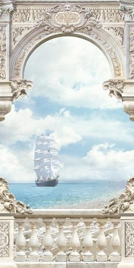 3D Фотообои «Белоснежные паруса»