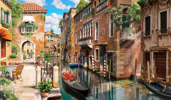3D Фотообои «Где-то в Венеции»