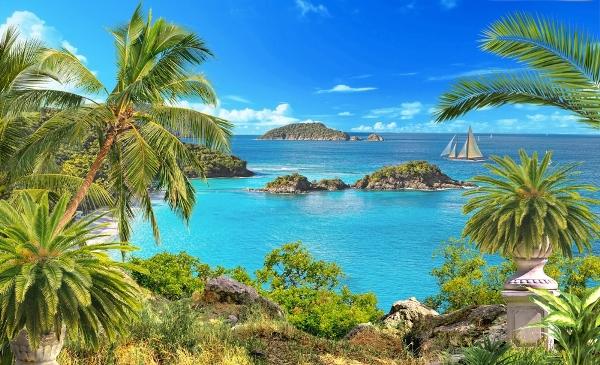 """Фотообои """"3D Фотообои «Остров в океане»"""""""