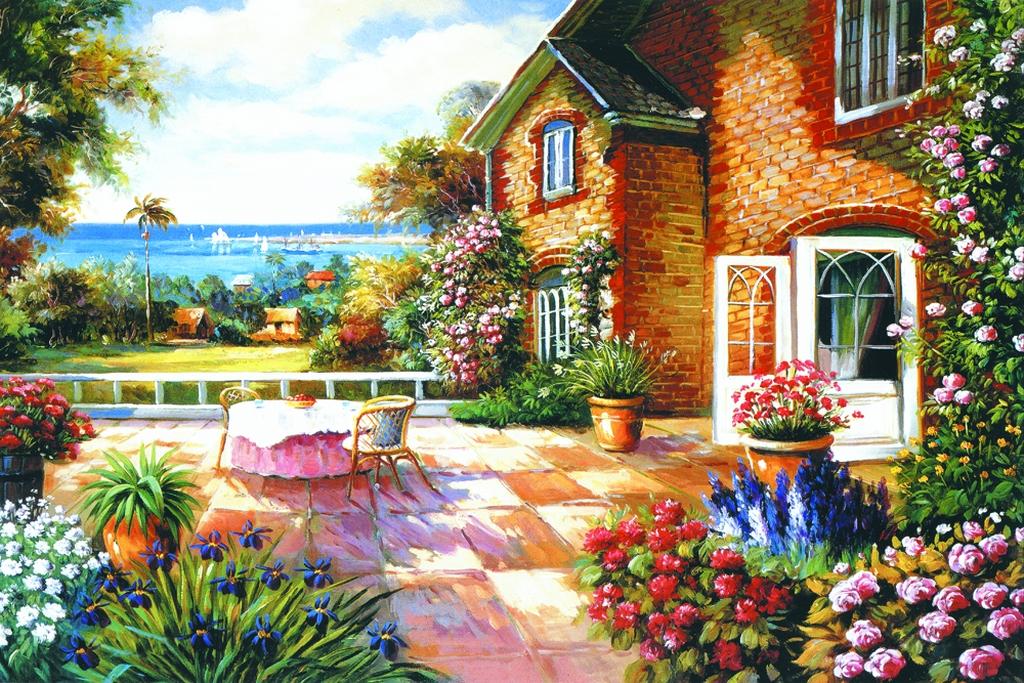3D Фотообои  Дворик под фрескуФотообои «Дворик под фреску» - утопают в ярких цветах и солнце, маленький мирок земного счастья на земле. Оазис высокого искусства и волшебства. Фестиваль красок и уникальной архитектуры. Слегка облачная небесная вуаль, накрывает пейзаж, разливая рубиновые грозди солнечных лучей, по всей картине.<br><br>Изображение фрески на стену открывает двери в сказку. Райский уголок полный живых цветов и изысканных орнаментов. Здесь повсюду атмосфера свежести и природы. Морской бриз дует с моря приятной прохладой.<br><br>Почувствуйте благодать, отраду и покой в душе. В такой атмосфере Вам захочется творить, любить, мечтать. Инсталляция отлично подойдет для гостиной, спальни и детской. Создаст эксклюзивный и запоминающийся дизайн.<br>kit: None; gender: None;