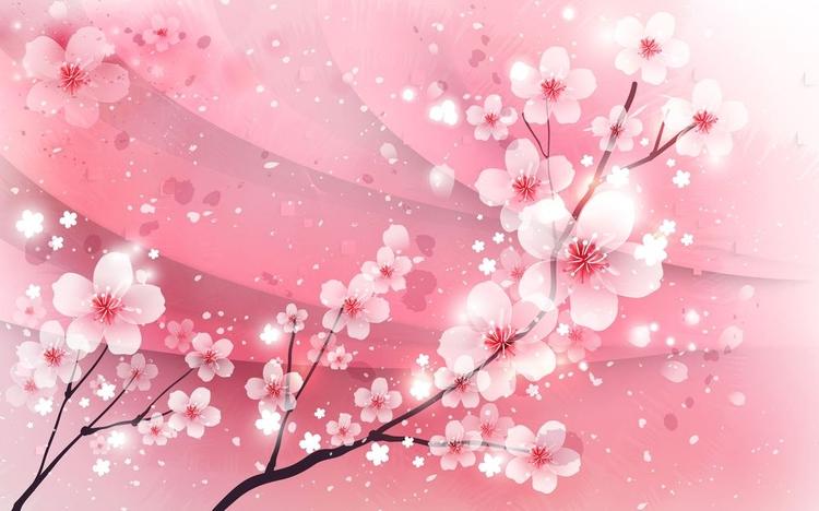 3D фотообои «Цветение сакуры» вид 1