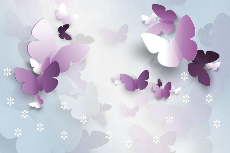 3D фотообои 3D Фотообои «Объемные бабочки» вид 1